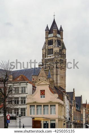 St. Salvator Cathedral, the main church of the city, is one of the few buildings in Bruges that have survived the onslaught of the ages without damage, Belgium