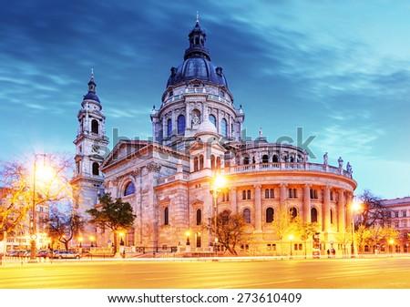 St. Stephen basilica in Budapest - stock photo