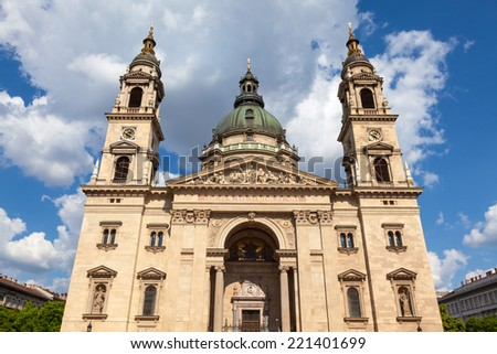St. Stephen's Basilica, Budapest, Hungary - stock photo
