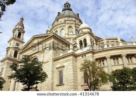 St Stephen's basilica in Budapest in Hungary - stock photo