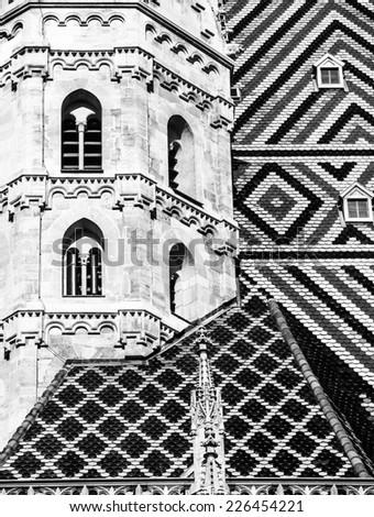 St. Stephen's Cathedral at Stephansplatz in Vienna, Austria - stock photo