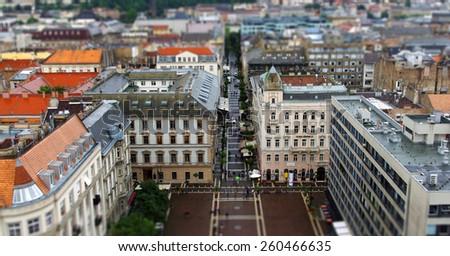 St. Stephen's square, Budapest, Hungary - stock photo