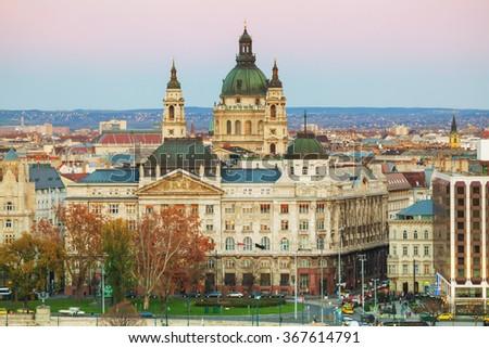 St Stephen (St Istvan) Basilica in Budapest, Hungary - stock photo