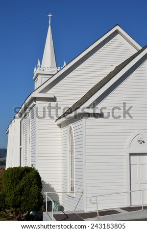 St. Teresa of Avila Church in Bodega, CA - stock photo