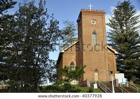 St. Thomas Anglican Church in Port MacQuarie, New South Wales, Australia - stock photo