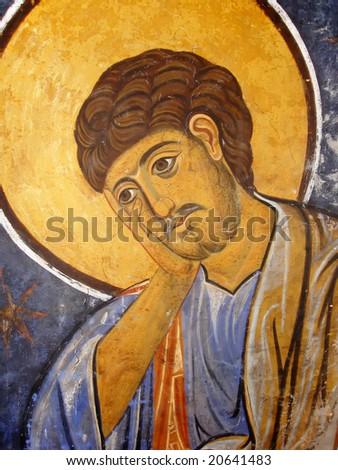 St Thomas Icon In Eastern Orthodox Christian Style - stock photo
