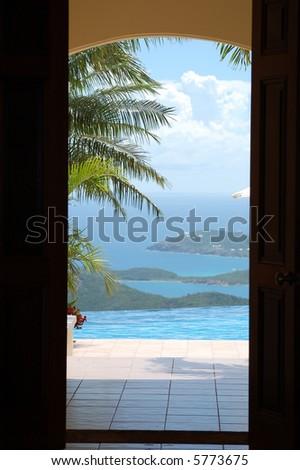 St. Thomas View - stock photo