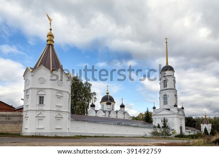 St. Tikhon's Monastery of Transfiguration diocesan - convent of Lipetsk and Yelets Diocese of the Russian Orthodox Church, located 7 kilometers north of the city of Zadonsk. - stock photo