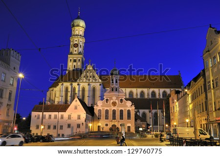 St. Ulrich church Augsburg, Germany - stock photo