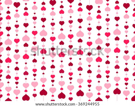 St.Valentine day Abstract Heart Background - stock photo