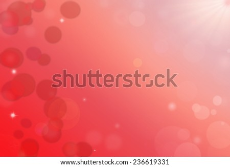 St.Valentine light red background with bokeh - stock photo