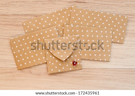St. Valentine's day envelopes with heart