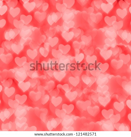 St. Valentine's Day red bokeh background, place for text - stock photo