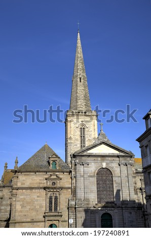St. Vincent church. Saint-Malo. France - stock photo