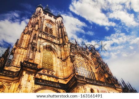 St. Vitus Cathedral in Prague - stock photo