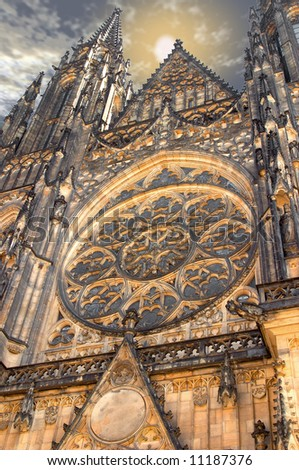 St.Vitus church in Prague.Czech republic.