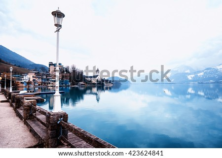 St Wolfgang in Tyrol, Austria - stock photo