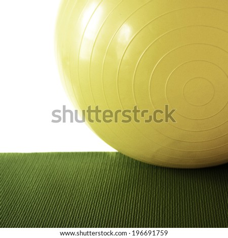 Stability ball, instagram style - stock photo