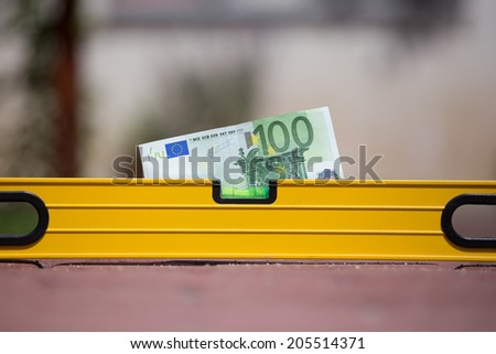 Stability of euro in economic and financial crisis - stock photo