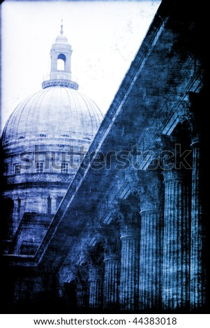 Stability of Law, Order and Justice Abstract Background - stock photo