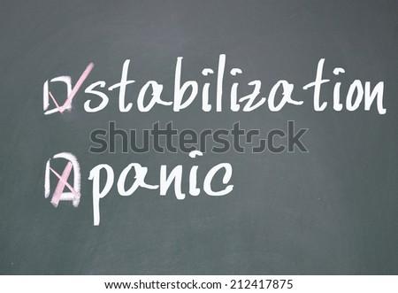 stabilization or panic determine - stock photo