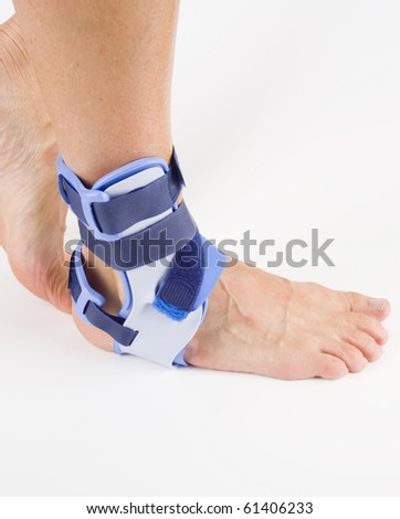 stabilizing orthosis, feet support - stock photo
