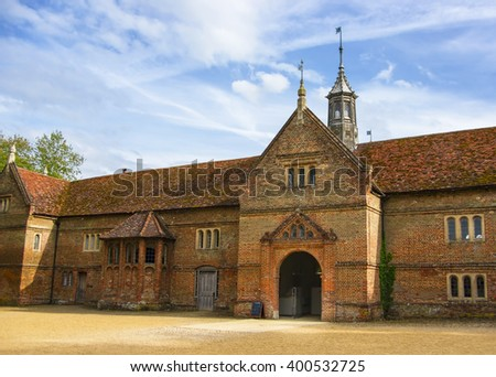 Stable in Audley End House in Essex in England. It is a medieval county house. Now it is under protection of the English Heritage. - stock photo