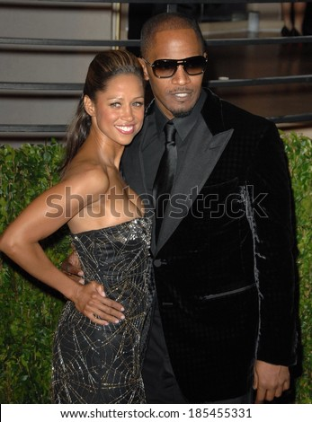 Stacey Dash, Jamie Foxx at VANITY FAIR Oscar Party, Sunset Tower Hotel, Los Angeles, CA March 7, 2010