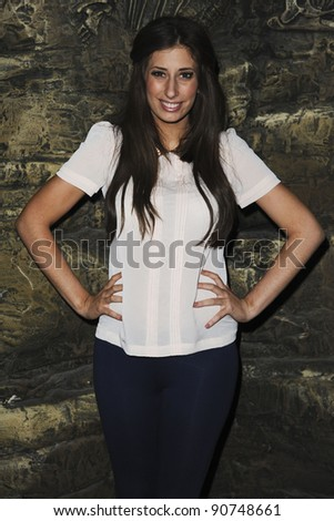 "Stacey Solomon at the launch of Samantha's new ""Sea Urchins"" magazine, The London Aquarium, London. 20/11/2011  Picture by: Steve Vas / Featureflash"