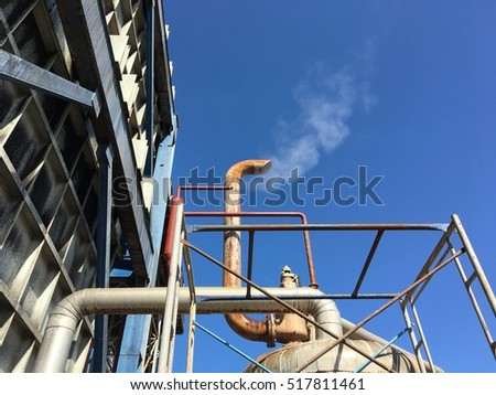 stack and piping in power plant industry