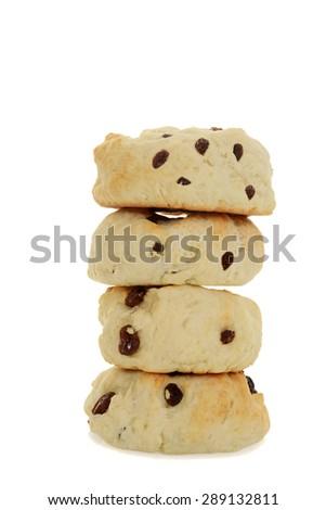 stack english scones - stock photo