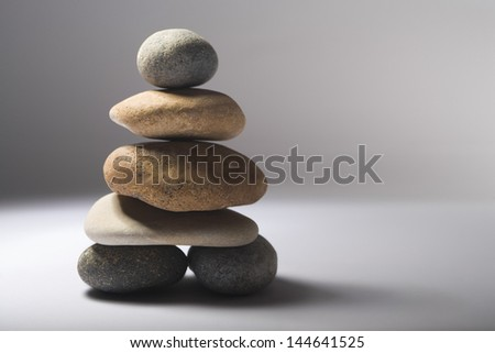 Stack of balanced pebbles