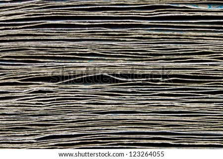 Stack of  banknotes close-up, background - stock photo