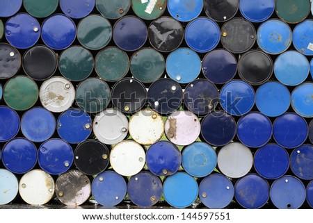 stack of barrel background. - stock photo