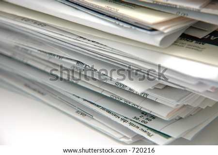 Stack of Bills and Invoices