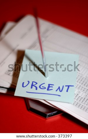 Stack of bills in need of urgent attention - stock photo