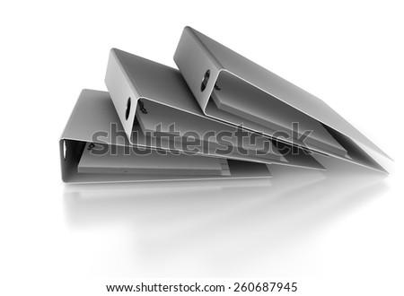 Stack of binders - stock photo
