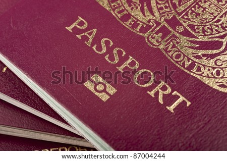 Stack of biometric european passport