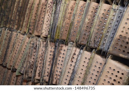 stack of black boxes crab - stock photo