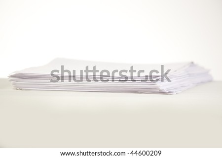 stack of blank paper sheets