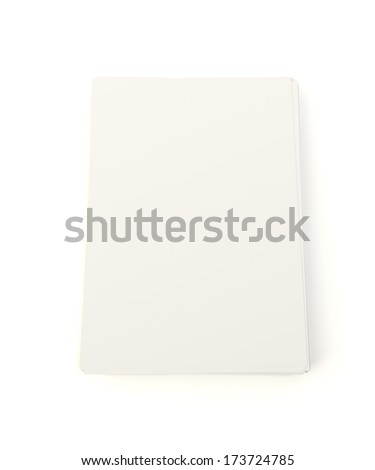 Stack of blank paper sheets isolated on white
