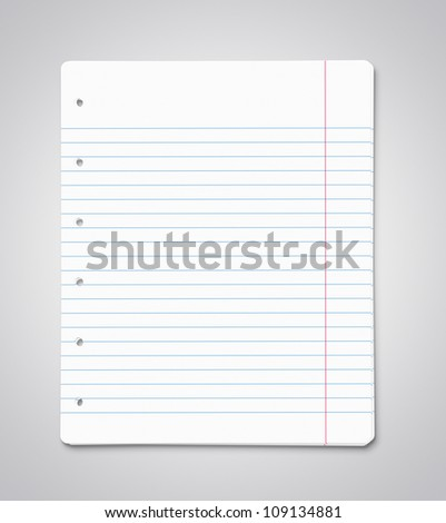Stack of blank paper sheets with copy space - stock photo