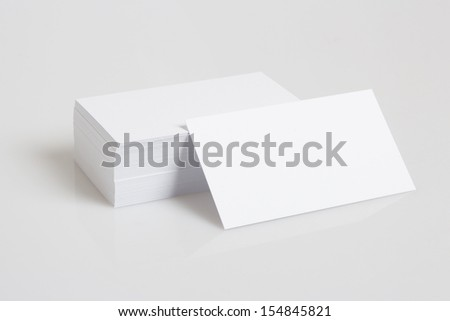 Stack Of Blank White Businesscards - stock photo