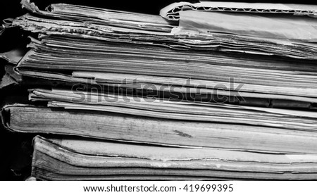 Stack of book in black and white
