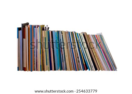 stack of book on white background - stock photo
