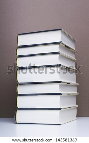 stack of books. - stock photo