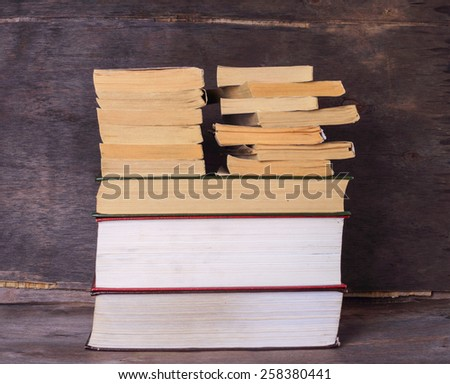 stack of books  - stock photo