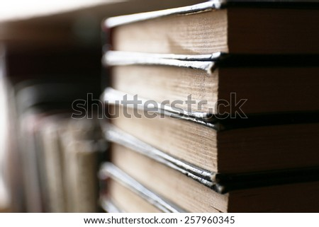 Stack of books, closeup - stock photo