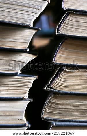 Stack of books, closeup - stock photo