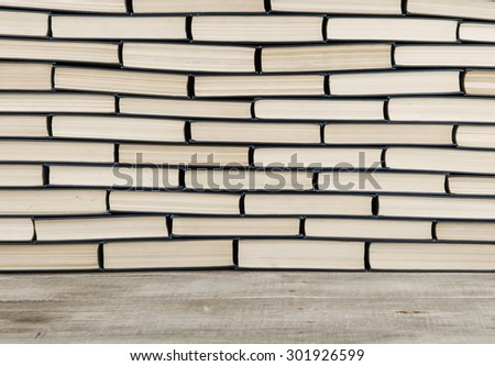 stack of books closeup for background - stock photo